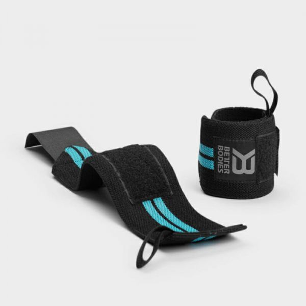 Better Bodies - Women's Wrist Wraps, aqua white