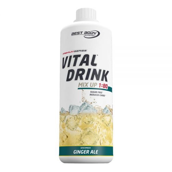 Best Body Nutrition - Vital Drink, Ginger Ale - 1000ml Flasche