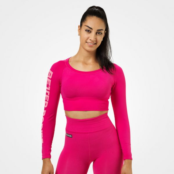 Better Bodies - Bowery Cropped Longsleeve, hot pink