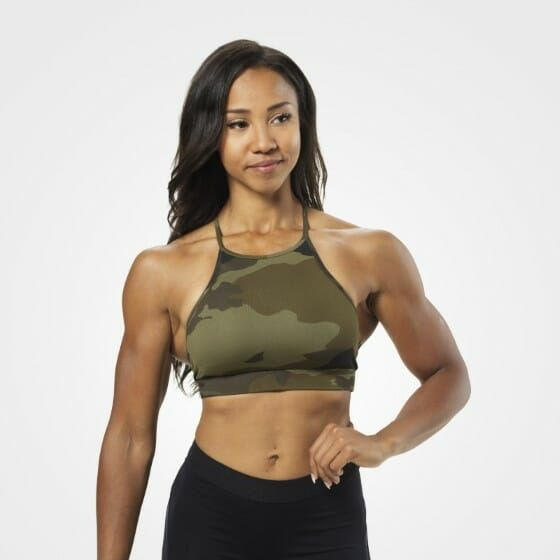 Better Bodies - Astoria Short Top, dark green camo