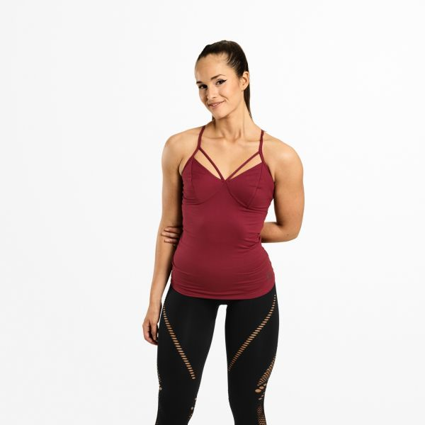 Better Bodies - Waverly Strap Top, sangria red