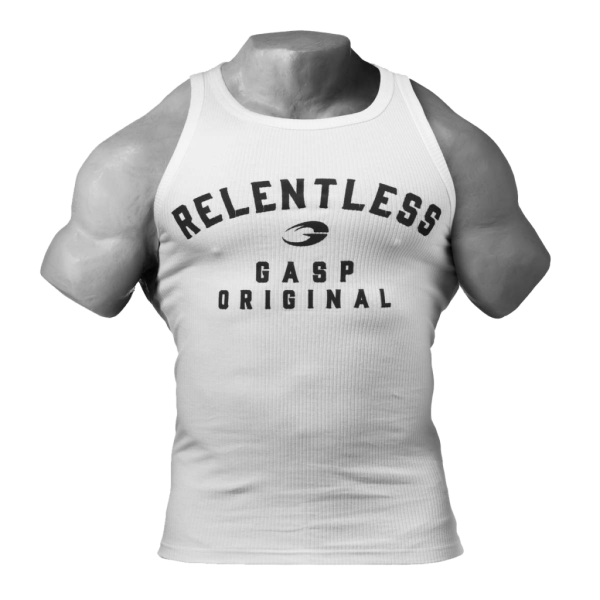 Gasp - Relentless Tank Top, white