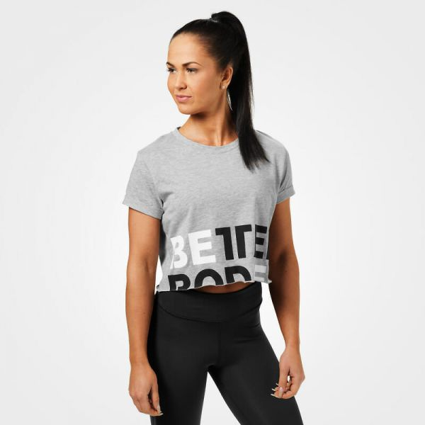 Better Bodies - Astoria Cropped Tee, grey