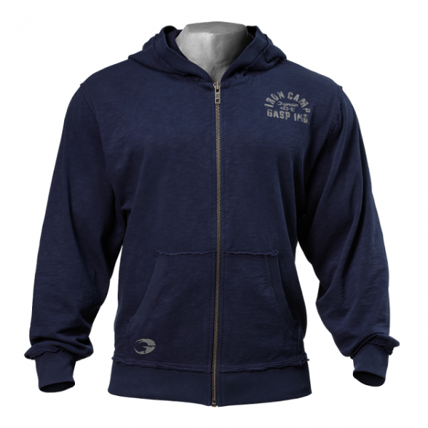 Gasp - Throwback Zip Hoodie, dark navy