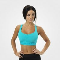 Better Bodies - Athlete Short Top/Bra, aqua blue
