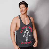 Gold's Gym - Muscle Joe Premium Stringer Tank Top, characoal