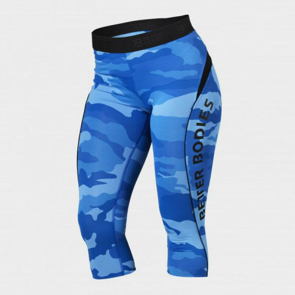 Better Bodies - Fitness Curve 34 Capri Leggings, blue camo