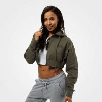 Better Bodies - Astoria Cropped Hoodie Jacket, wash green