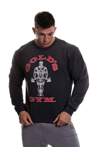 Gold's Gym - Rundhals Sweatshirt, Charcoal