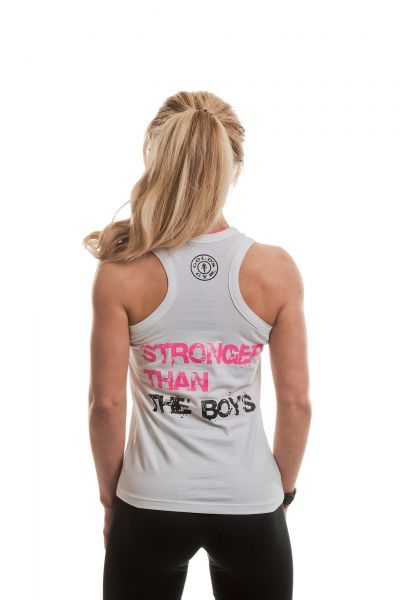 Gold's Gym - Ladies Fitted Tank Top, weiss
