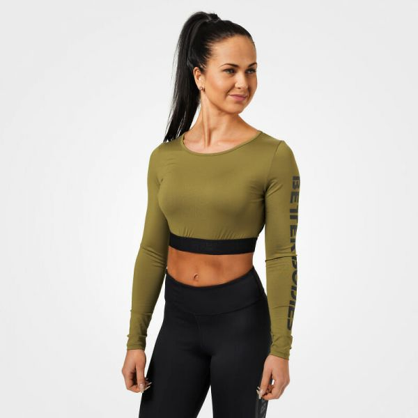 Better Bodies - Chelsea cropped Longsleeve, military green