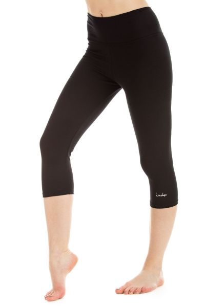 Winshape - 3/4-Slim Tights WTL2, schwarz