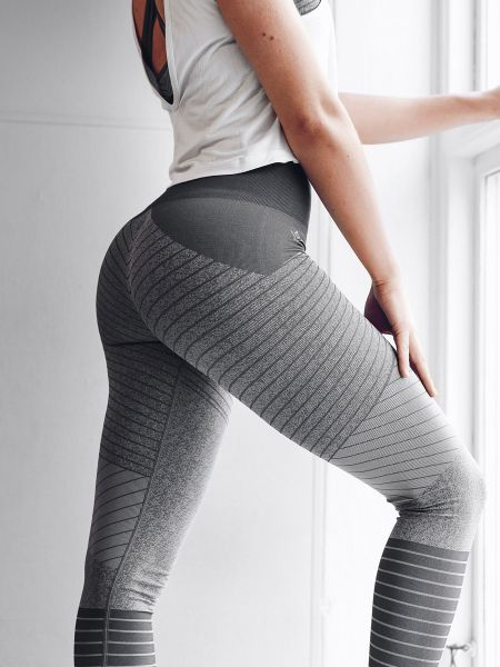Workout Empire - Lined Up Leggings, grey
