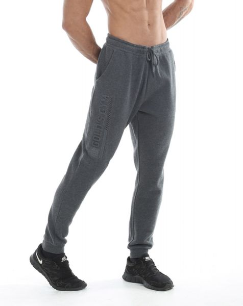 Gold's Gym - Mens Jog Pant with Embossed Print, charcoal