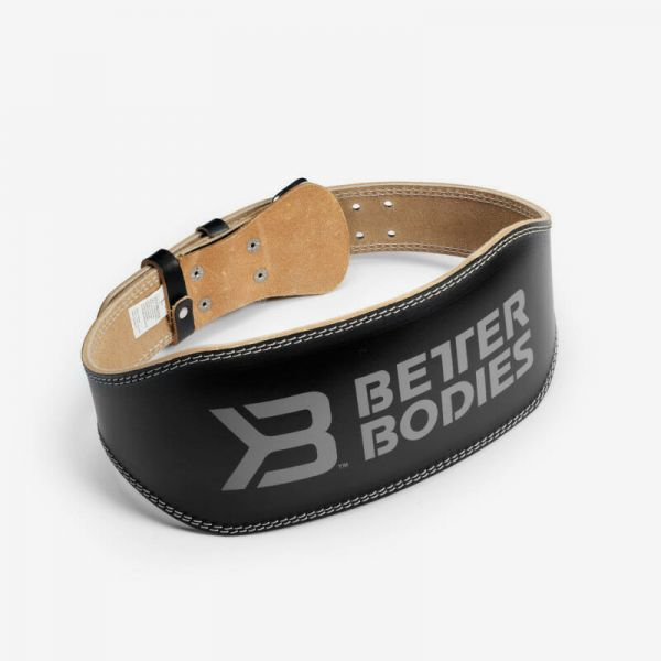 Better Bodies - Leder Lifting Belt 6 inch, schwarz