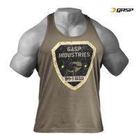Gasp - Gym T-Back Tank Top, washed green