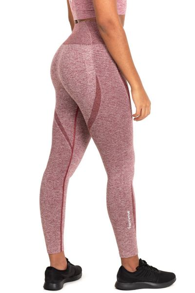Famme - Elevate Vortex Leggings, burgundy melange
