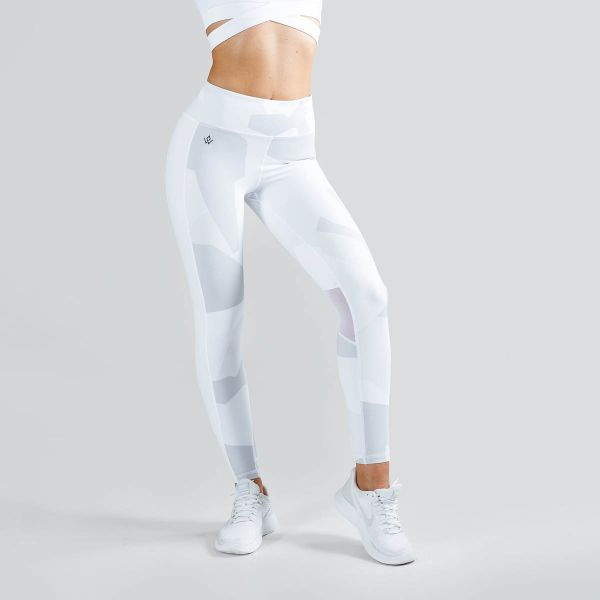 Workout Empire - Camo Tights, white