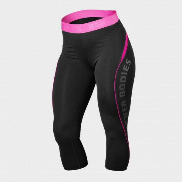 Better Bodies - Fitness Curve 34 Capri Leggings, black-pink