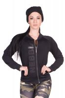 Nebbia - Zip Trainingsjacke, schwarz