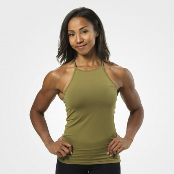 Better Bodies - Performance Halter Top, military green