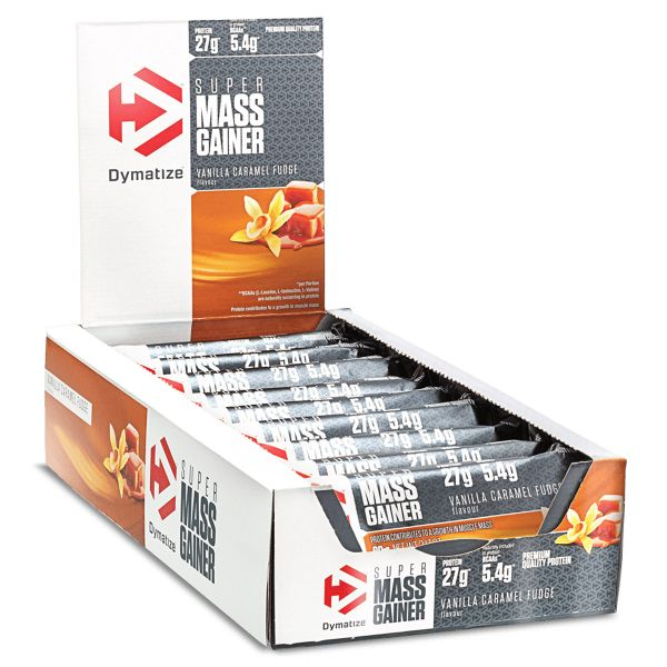 Dymatize - Super Mass Gainer Bar, 10 Riegel à 90g
