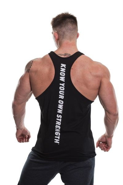 Gold's Gym - Slogan Premium Tank Top, schwarz