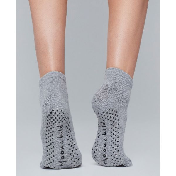 Moonchild Yoga Wear - Grip Socks High, heather grey