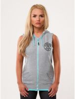 Gold's Gym - Sleeveless Hoodie, grau