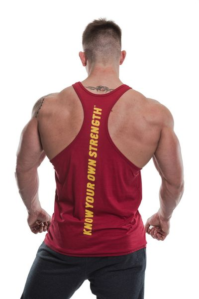 Gold's Gym - Slogan Premium Tank Top, burgundy