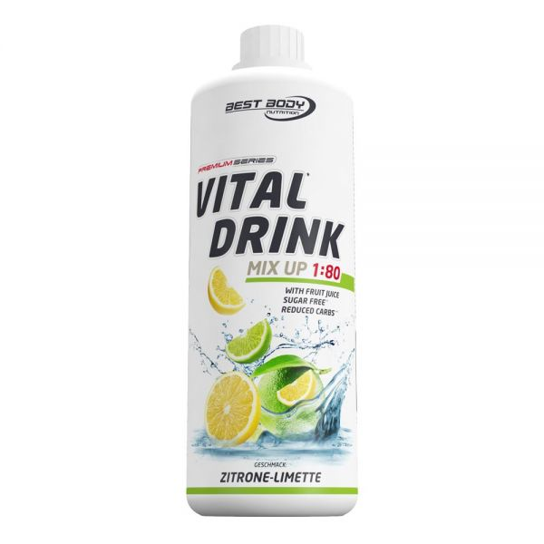 Best Body Nutrition - Vital Drink, Zitrone Limette - 1000ml Flasche