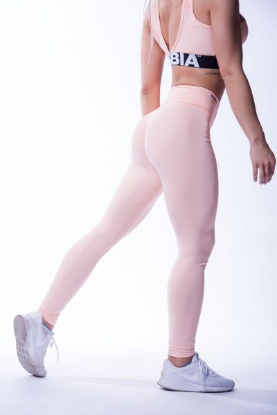 Nebbia - High Waist Scrunch Butt Leggings, lachs