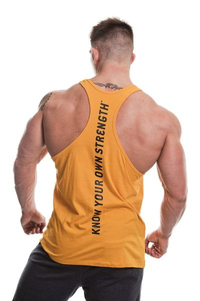 Gold's Gym - Slogan Premium Tank Top, gold