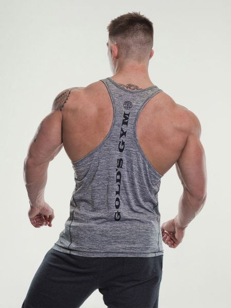 Gold's Gym - Marl Performance Stringer Tank Top, grey