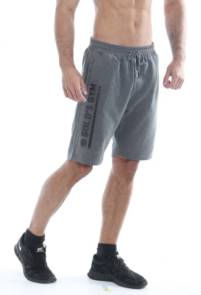Gold's Gym - Shorts with Embossed Print, grau