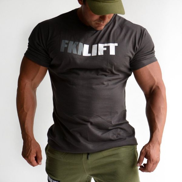 FKN Gym Wear - FKNLIFT Gym T-Shirt, charcoal