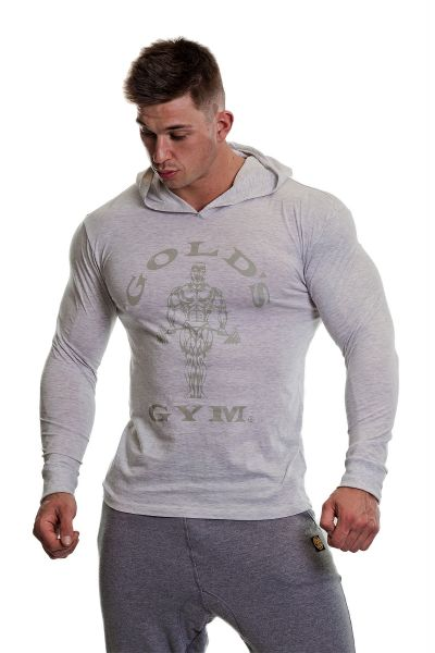 Gold's Gym - Long Sleeve Muscle Joe Hood, weiss