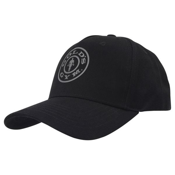 Gold's Gym - Curved Peak Cap, schwarz