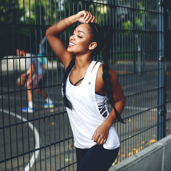 Workout Empire - Insignia Tank Top, weiss