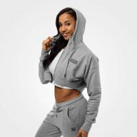 Better Bodies - Astoria Cropped Hoodie Jacket, grey