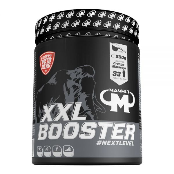 Mammut Nutrition - XXL Booster Powder, Orange Maracuja - 500g Dose