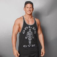Gold's Gym - Muscle Joe Contrast Stringer Tank Top, schwarzgrau