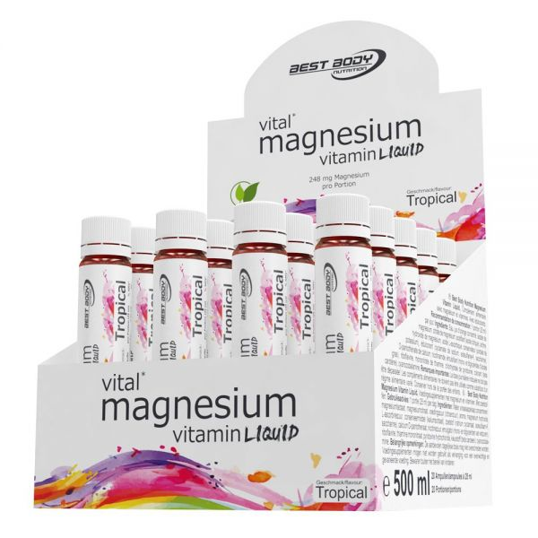 Best Body Nutrition - Magnesium Vitamin Ampullen, Tropical - 20 Ampullen à 25ml