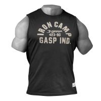Gasp - Throwback SL Muscle Tank Top, washed black