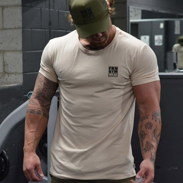 FKN Gym Wear - Classic Gym T-Shirt, beige