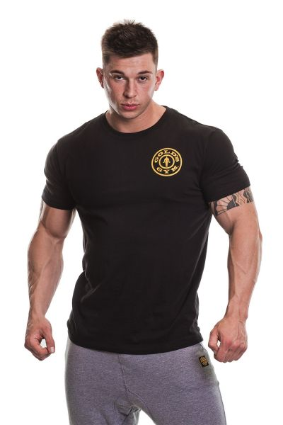Gold's Gym - Basic T-Shirt mit Brustlogo, schwarz