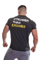 Gold's Gym - Slogan Premium Crew T-Shirt, grau