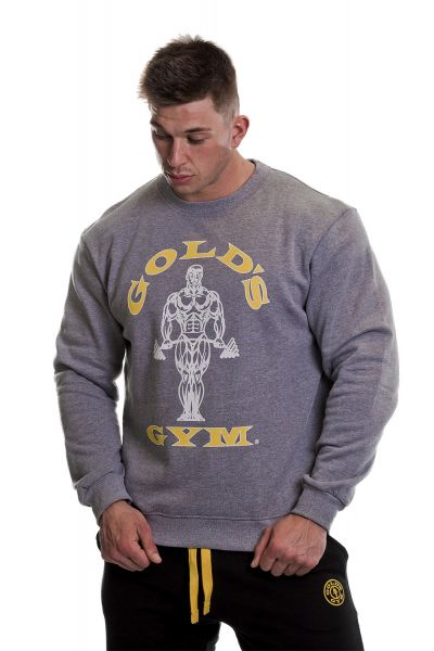 Gold's Gym - Rundhals Sweatshirt, grau