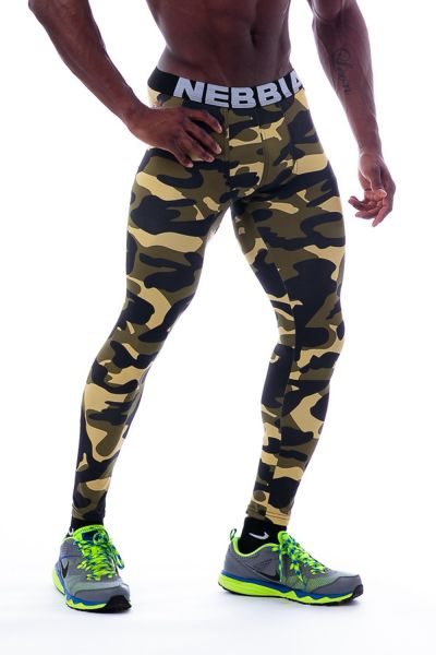 Nebbia - Leggings AW, camo green
