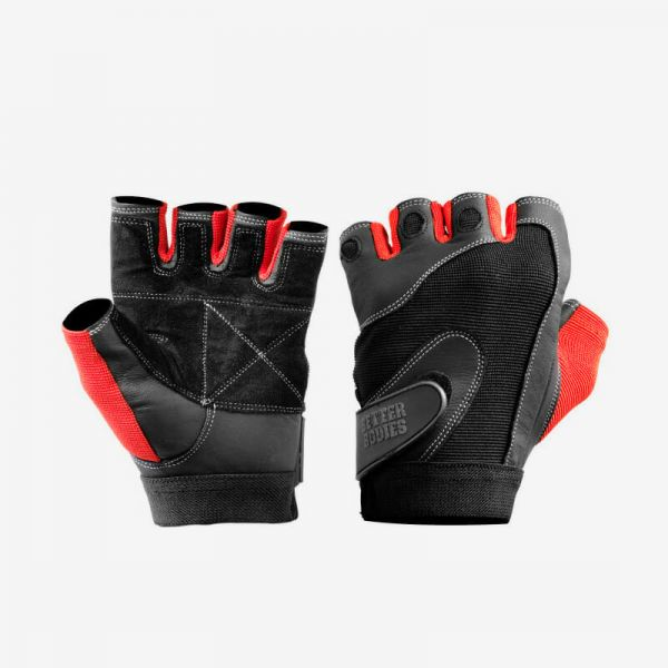 Better Bodies - Pro Lifting Gloves, schwarz-rot